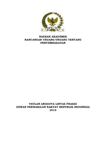 Naskah Akademik RUU Usul DPR ttg Pertembakauan 15Des16-COV